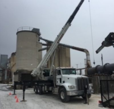 mobile crane being used at local quarry